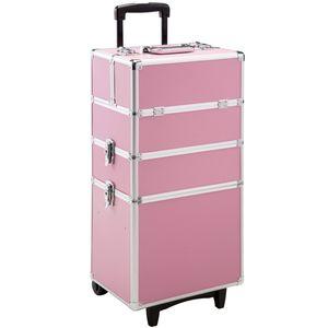 tectake Kosmetiktrolley mit 3 Etagen - pink