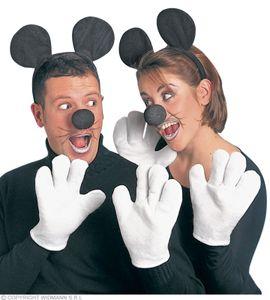 Kostüm Set Maus für Erwachsene - Mäuse Set Maus Mäusekostüm Mauskostüm