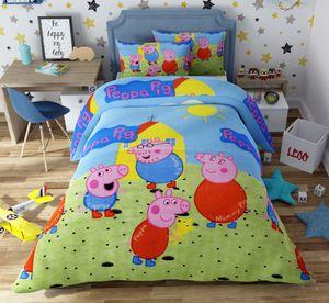 Peppa Pig Bettwäsche 80x80 + 135x200 cm · Peppa Pig Bettwäsche / Kinder-Bettwäsche ·  Baumwolle