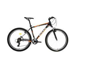 27,5 Zoll Alu Aluminium Herrenrad Herren Jugend MTB Fahrrad Mountainbike Jugendfahrrad 21 Gang Shimano Bike Rad Gabelfederung Federgabel Beleuchtung 7050 orange
