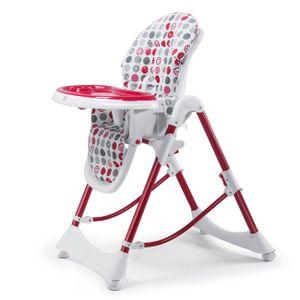 Baby Vivo Design Kinderhochstuhl aus Kunststoff - Tippy Dunkelrot