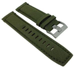 Timex Intelligent > Uhrenarmband 22mm Leder / Textil grün > T2P286