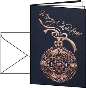 """sigel Weihnachtskarte """"Noblesse"""" A6 (A5) 10 Karten + 10 Umschläge"""