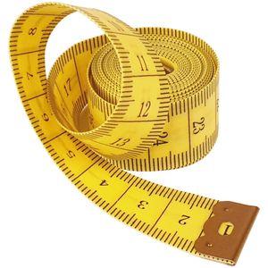 """150cm Maßband """"10 Stück"""", Schneiderrei Messband - weiches Bandmaß - zweiseitig bedrucktes gelbes Körpermaßband 1,5m"""