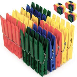 Deuba 200x Wäscheklammern aus Kunststoff - Wäscheklammer Klammern - extra Starke Feder mit verzinktem Stahldraht - 4 witterungsbeständig
