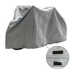 Fahrrad Abdeckplane Fahrradgarage wasserdicht robust, 200x110 cm, grau, PEVA, Klettverschluss, 239 g