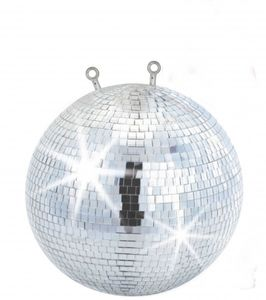 Spiegelkugel mit Sicherheitsöse 30cm // Discokugel - Mirrorball Safety 30cm