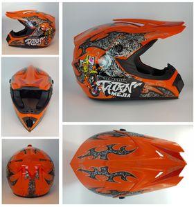 Megacooler Crosshelm Mejia Helm für Kinder orange Größe S; Kinderhelm Motocrosshelm