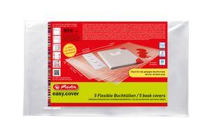 Herlitz Buchhülle 5er Pack Buchumschlag easy.cover in Polybeutel