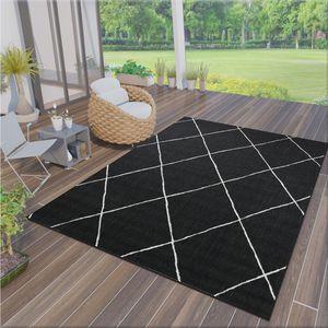 Robuster In- und Outdoor Flachgewebe Teppich 100% Polypropylen , Maße:140x200 cm