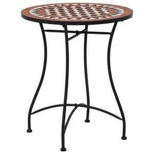 vidaXL Mosaik-Bistrotisch Braun 60 cm Keramik