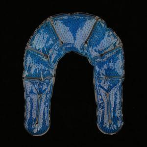 Gel Perlen Kompresse Kühlkissen Wärmekissen Gelkompresse Knie Kopf Nacken Farbe Blau