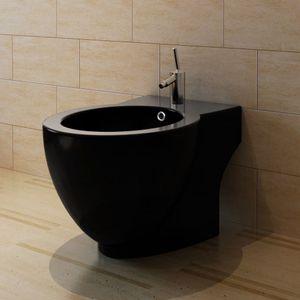 beraes Standbidet Stand-Bidet Bodenstehend Bidet Keramik schwarz