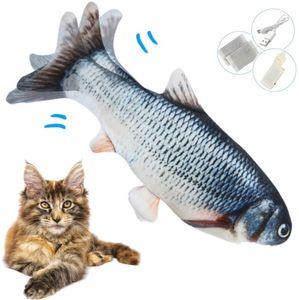 Elektrisch Spielzeug Fisch, Katzenminze elektrische Fisch, USB Katze Spielzeug Fisch mit Katzenminze für Katze und Kätzchen, Interaktive Katzenspielzeug zu Spielen, Beißen, Kauen und Treten