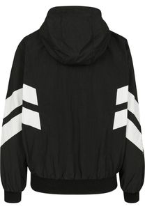 Urban Classics Damen Leichte Jacke Ladies Crinkle Batwing Jacket Black/White-S