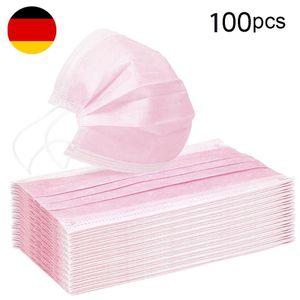 XTDWIN®100 Stück Pink Disposable Shield Einweg-Atemschutzbakterienschutz Mundschutz Gesichtsschutz Rosa 100 Stück