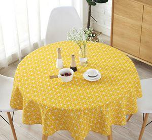 Wachstuch Tischdecke Wachstischdecke Leinen Stoff Tischwäsche Abwaschbar Wachstuchdecke Gartentischdecke,Gelb