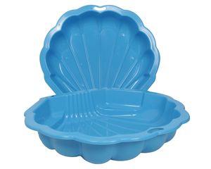 Ondis24 Sandkasten Muschel Wassermuschel blau 2-tlg. ca. 102 (L) x 88 (B) x 20 (H) cm