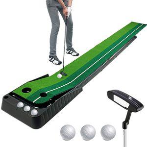 MECO Indoor Putting Set, 3 Meter Golf Putting Matte mit Putter und 3 x Golfbälle