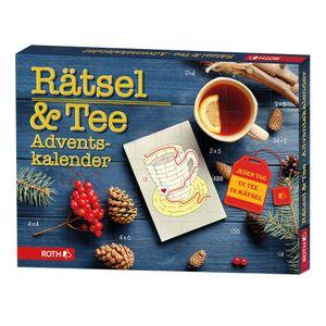ROTH Rätsel + Tee-Adventskalender 2021 gefüllt mit hochwertigem Tee und Rätseln, Krimi + Teebeutel-Kalender für die Vorweihnachtszeit