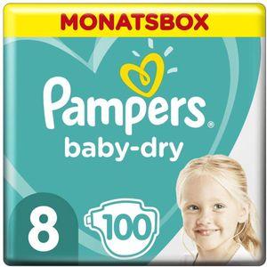 Pampers Baby Dry Gr.8 Extra Large 17+kg MonatsBox, 100 Stück - Größe 8 - 100 Stück