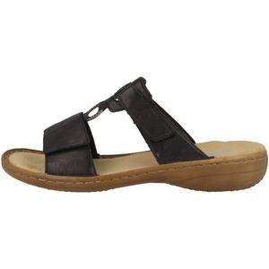 Rieker 60885 Schuhe Damen Pantoletten Sandalen, Größe:40 EU, Farbe:Schwarz