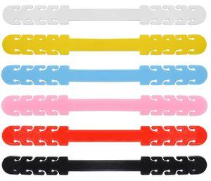 Ohrhaken Set Verlängerungsriemen Verstellbar Anti-Tightening Weich und Flexibel, 5-er Set wählen:5er Set gelb