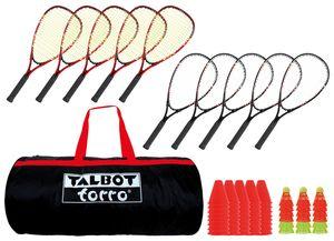 Talbot-Torro Speed-Badminton Schulset, Set für 10 Spieler, im Sportsbag