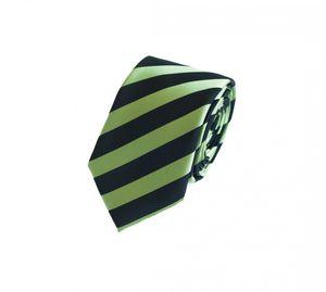 Schlips Krawatte Krawatten Binder 6cm kiwi grün schwarz gestreift Fabio Farini