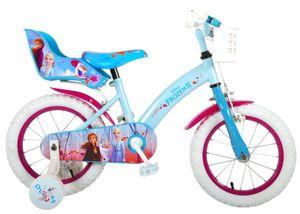 Disney Kinderfahrräder Mädchen Frozen 2 14 Zoll 23,5 cm Mädchen Rücktrittbremse Blau