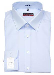 MARVELIS Herren Body Fit Hemd extra langer Arm hellblau Größe 42