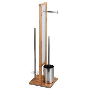 Stand WC-Garnitur Rivalta Bambus Toilettenpapierhalter badezimmer WC-Bürste