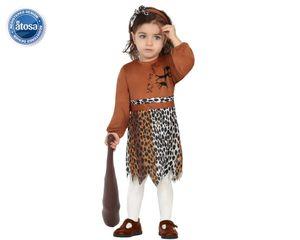 Atosa Karneval/Fasching Kostüm Baby Höhlenbewohnerin 6-12 Monate 6-12M