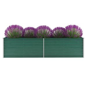 Garten-Hochbeet Verzinkter Stahl 320x80x77 cm Grün