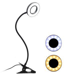 Clip-on Schreibtischlampe USB Tischlampe Augenschutz LED Licht Biegbare flexible Leselampe fuer Nail Art Tattoo Reading Beauty Makeup