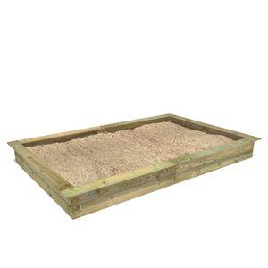 FATMOOSE PowerPit Sandkasten mit Sitzrand 195 x 300 cm