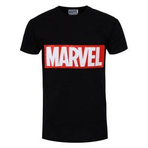 Marvel Herren T-Shirt Box Logo GR1957 (XL) (Schwarz)