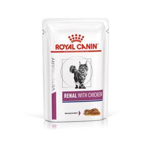 Royal Canin Vet Diet Renal Katze Feuchtnahrung, Option:12 x 85 g Frischebeutel Chicken