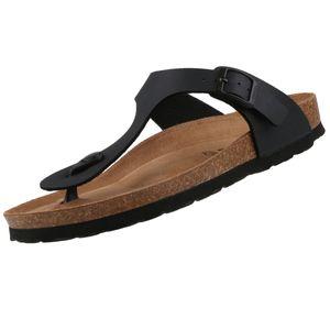 Tamaris Damen  Pantoletten 1-27522-26 Schwarz 001 Black Textil/Synthetik mit Leather Sock, Groesse:41 EU