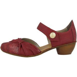 Rieker 43722-35 Schuhe Damen Spangenpumps Klettverschluss, Größe:40 EU, Farbe:Rot