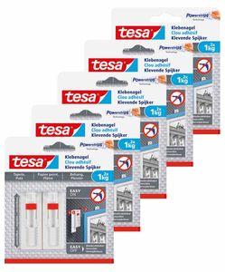 tesa Klebenagel Tapete & Putz 1,kg - verstellbar 5 Packungen