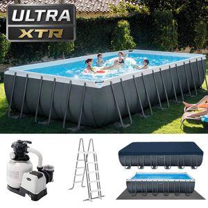 Intex Ultra XTR Frame Pool   732 x 366 x 132 cm   Sandfilter Leiter   26364GN