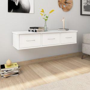 Wand-Schubladenregal Hängeregal Weiß 88x26x18,5 cm Spanplatte