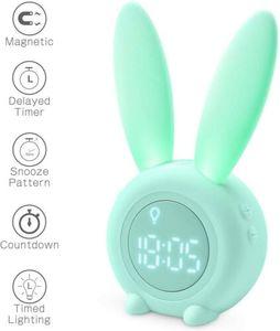 Kinder Lichtwecker Cute Rabbit Wake Up Kinderwecker Creative (grün)