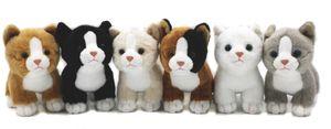 Uni-Toys - Katzen-Babys (6-teilig) - 14 cm (Länge) - Plüsch-Katzen - Plüschtier, Kuscheltier