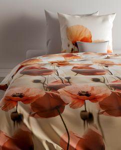 Zo! Home Baumwolle Bettwäsche 135x200 cm Klatschmohn Mohn Campbell vintage Blumen