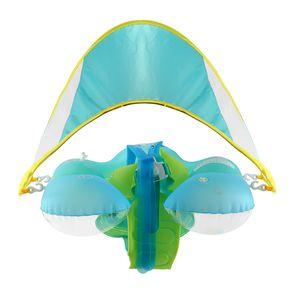Baby Schwimmring Aufblasbare Sonnencreme Schwimmbad Accs Badespielzeug für M. Blau Sonnenschutz