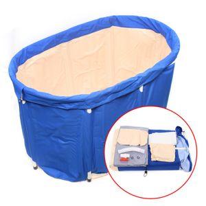 Klappbadewanne dicker Plastikeimer Badewanne  Erwachsen Baby Winter Isolierte Badewanne Bequemlichkeit mobile badewanne