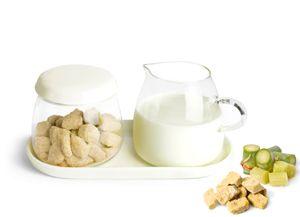 Milchkännchen & Zuckerdose aus Glas und Porzellan Milchgiesser Zuckerspender