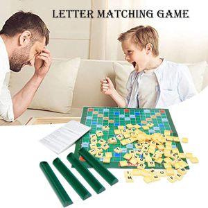Letter Matching Scrabble Brettspiel Original oder Reisen für Kinder Erwachsene Familien